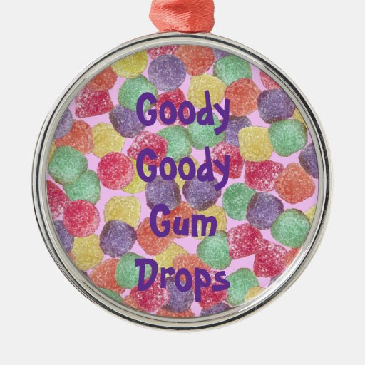 Goody Goody Gumdrops Round Metal Christmas Ornament