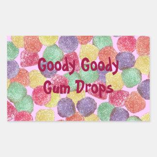 Goody Goody Gumdrops Rectangular Sticker