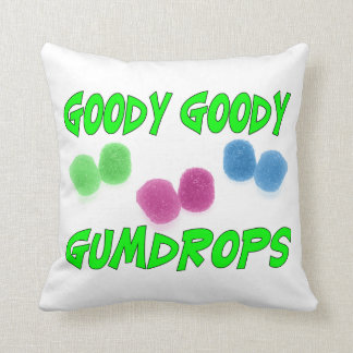 Goody Goody Gumdrops Throw Pillow
