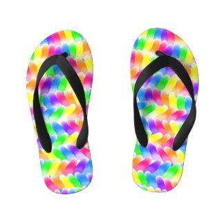 Goody Gum Drops Design Kid's Flip Flops