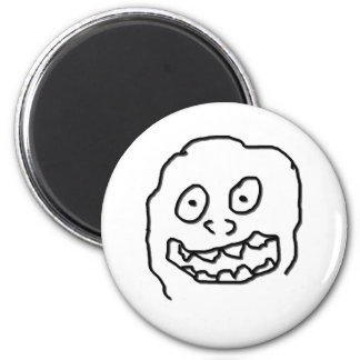 Goof Doodle Nut 0003 black and white Magnets