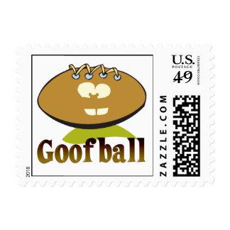 GOOFBALL funny football cartoon character Stamp