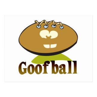 GOOFBALL funny football cartoon character Postcard