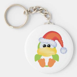Goofkins Green Duck Xmas santa Keychains
