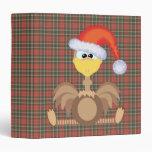 goofkins ostrich xmas santa binders