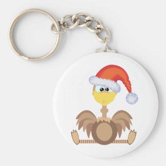 goofkins ostrich xmas santa key chains