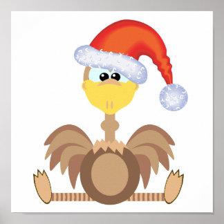 goofkins ostrich xmas santa posters