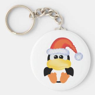 goofkins penguin xmas santa keychain