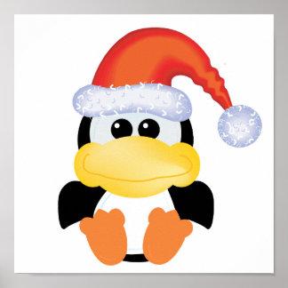 goofkins penguin xmas santa poster