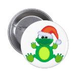 goofkins santa xmas frog button