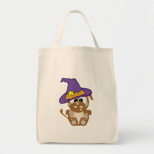 Goofkins Witchy Brown Cow Canvas Bags
