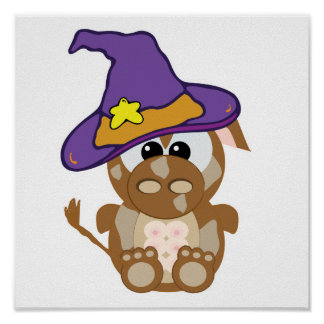 Goofkins Witchy Brown Cow Poster
