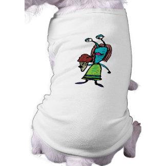 goofy alien girl eating chocolate ice cream dog tshirt