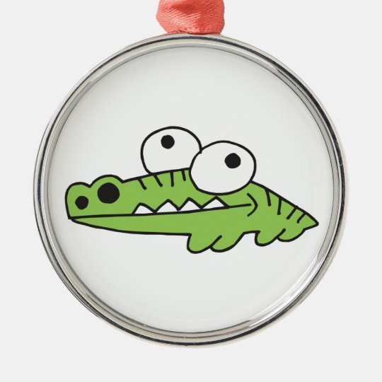 goofy baby alligator metal ornament