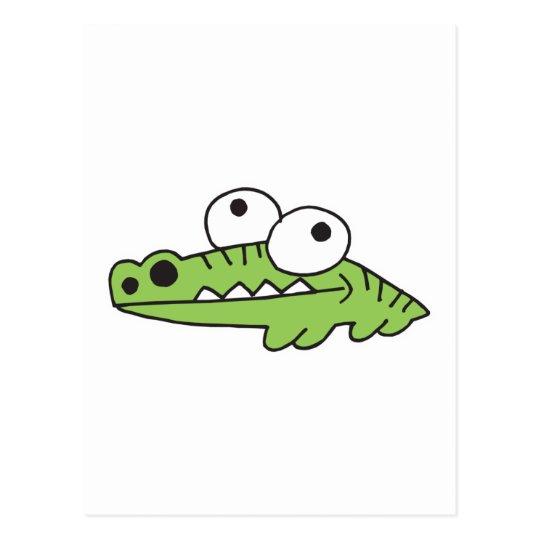 goofy baby alligator postcard