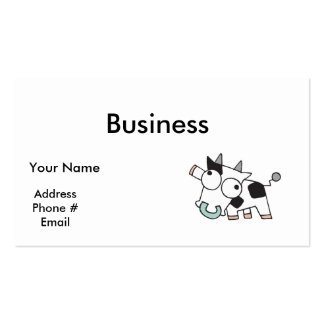 Goofy Baby Cow Business Card