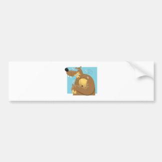 goofy bear eating honey car bumper sticker