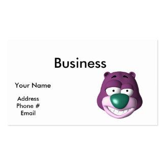 goofy bear face business card