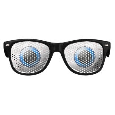 Goofy Bloodshot Blue Eyeballs Halloween Kids Sunglasses at Zazzle