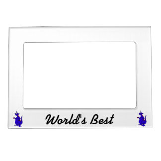 Goofy Blue Dragon Guy png Magnetic Picture Frame