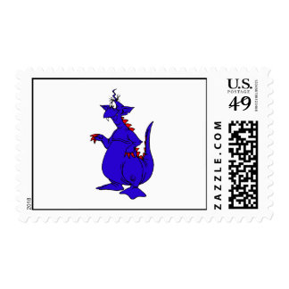Goofy Blue Dragon Guy.png Stamps