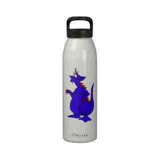 Goofy Blue Dragon Guy png Water Bottles