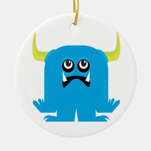 goofy blue monster christmas ornament