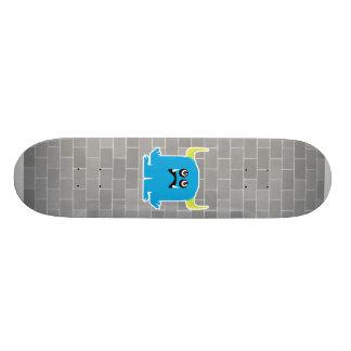 goofy blue monster skateboard deck
