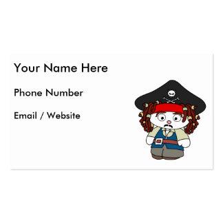 Goofy Cartoon Pirate Business Card