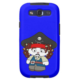 Goofy Cartoon Pirate Galaxy SIII Cases