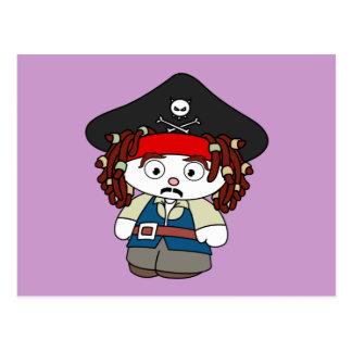 Goofy Cartoon Pirate Postcard