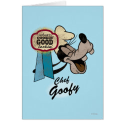 Greeting Card with Chef Goofy: What's Cookin' Good Lookin' design