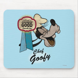 Mousepad with Chef Goofy: What's Cookin' Good Lookin' design