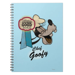 Photo Notebook (6.5' x 8.75', 80 Pages B&W) with Chef Goofy: What's Cookin' Good Lookin' design