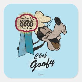 Goofy   Chef Square Sticker