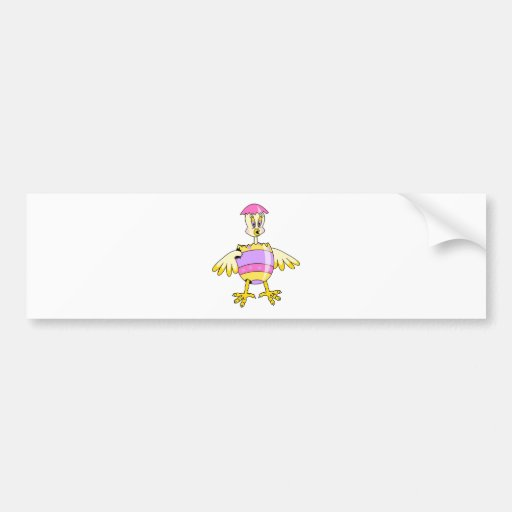 goofy chick hatched easter egg car bumper sticker