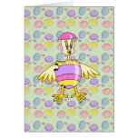 goofy chick hatched easter egg card