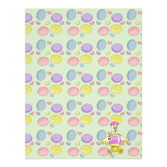 goofy chick hatched easter egg letterhead