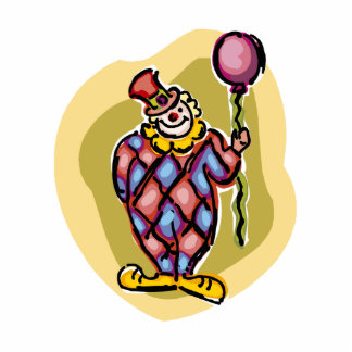 Goofy Clown & Balloon Cutout