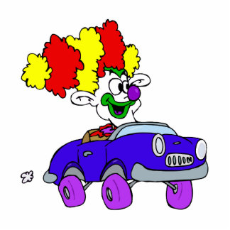 Goofy Clown in little car Cutout