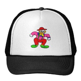 Goofy Clown in Suspenders Trucker Hat