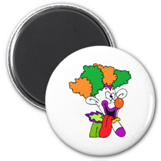 Goofy clown tongue out magnet