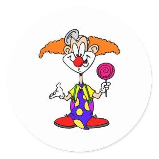 Goofy Clown with Lillipop sticker