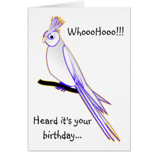 Goofy cockatiel greeting cards