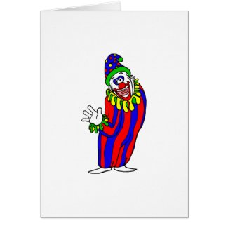 Goofy Colorful Clown card