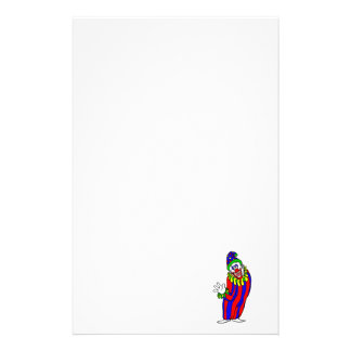 Goofy Colorful Clown Stationery