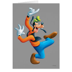 Greeting Card with Funny Dancing Goofy design