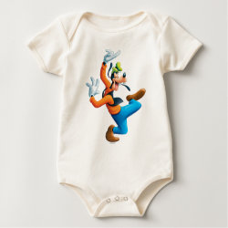 Infant Organic Creeper with Funny Dancing Goofy design