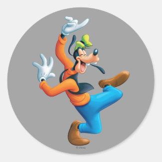 Goofy   Dancing Classic Round Sticker