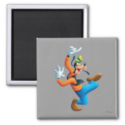 Square Magnet with Funny Dancing Goofy design